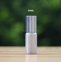30ml customized size aluminium recyclable spray bottles /lotion pump sprayer