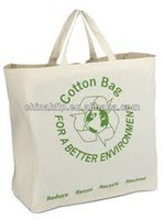 Decorative reusable durable cotton shopping bag