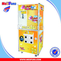 funny kids' Single Claw Cranec game coin operated Machine
