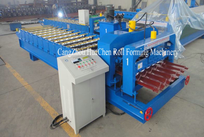 Roofing Color Metal Glazed Tile Cold Roll Forming Machine