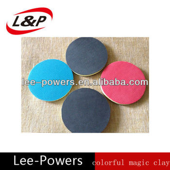 Cheap popular durable car beauty care polishing colorful magic clay pad