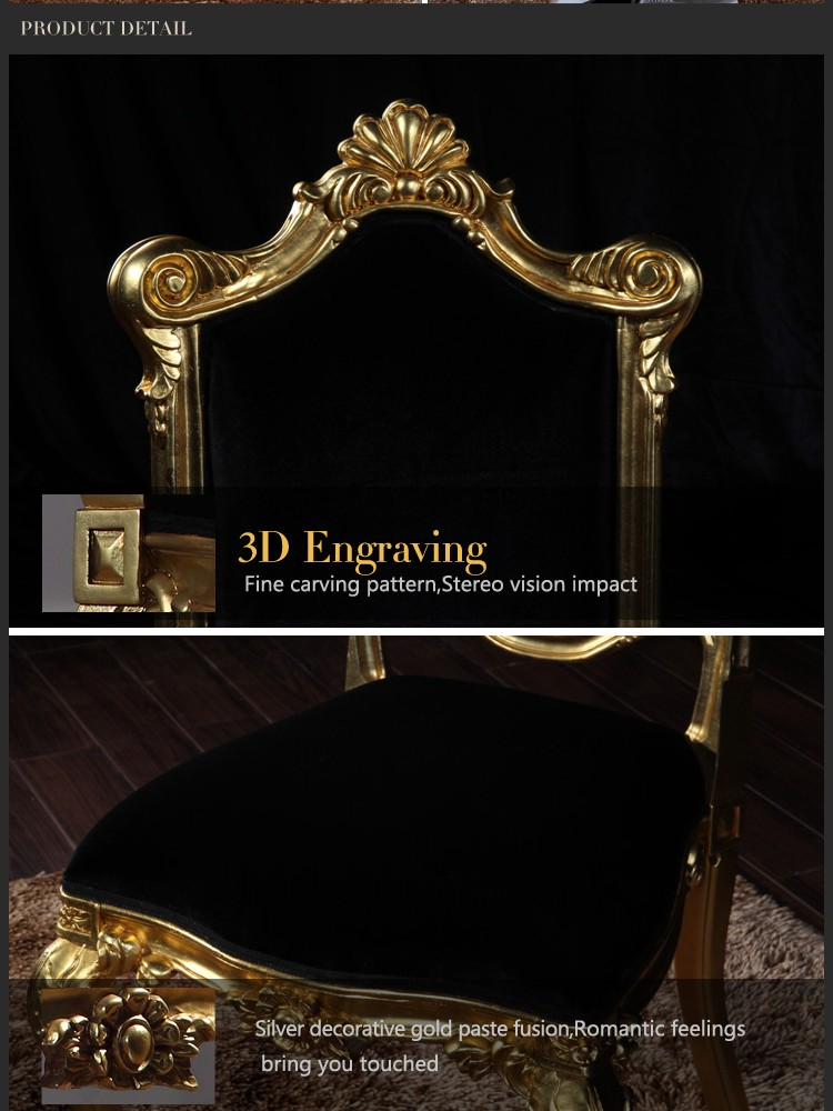 classical baroque furniture- royalty hand-made solid wood chair