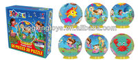 education toy plastic round 3D puzzle
