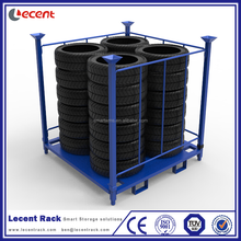 China Supplier Powder Coating Collapsible Stackable Semi Trailer Spare Tire Rack