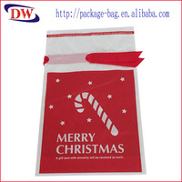 Plastic manufacturers custom gift plastic bag PE red ribbon bag Korea Japan waterproof beam mouth pull rope bag