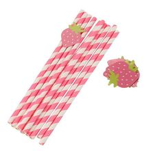 High performance sanitary fruit decoration ecofriendly paper straws