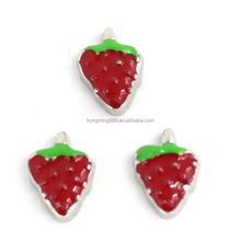 Red Enamel Alloy Strawberry Floating Charms For Lockets Origami Owl Floating Charms