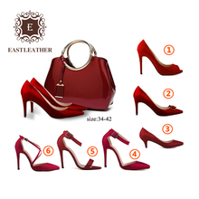 SHB224-1 Guangzhou best selling matching ladies shoes and hand bags