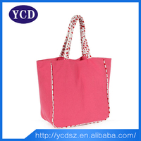 Shenzhen NEW Shopping Durable Daily Plain Canvas Tote Bag