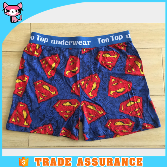 Breathable Fashion Superman Patterns Shipping From China Mens Underwear Custom Logo