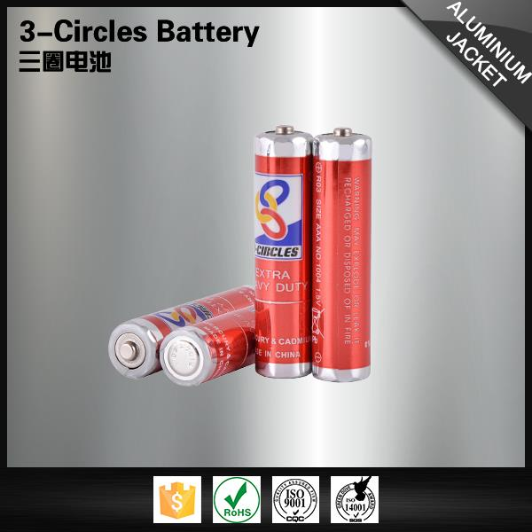 Wholesale metal jacket 1.5v batteries aaa zinc carbon dry cell battery