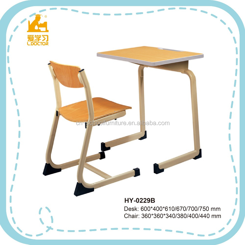 School Furniture Used High School Classroom Single Set High quality Desk and Chair