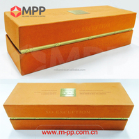 Custom luxury paper wine packaging box for XO french brandy