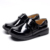 Teenage Boys Classy Flat Genuine Leather Lacing School Shoes