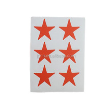 custom a4 paper brand name child star shape sticker heat seal label