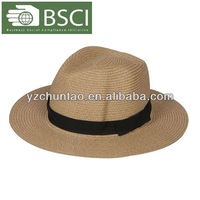 BSCI Audit custom cheap straw paper hat straw cowboy hat