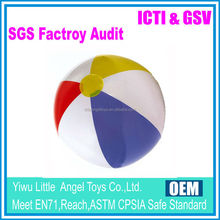 New Design coloful rainbow inflatable promotional PVC beach ball