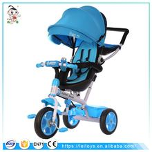 2017 best selling products china plastic kids trike stroller baby tricycle bike child ride on car 3 wheel with canopy tricycle