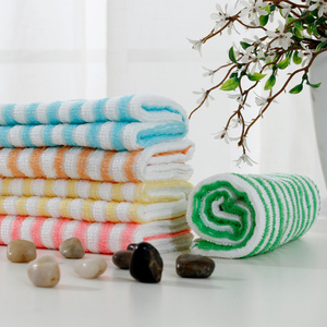 Industrial stripes weaving cleaning cloth microfiber duster cloth rag