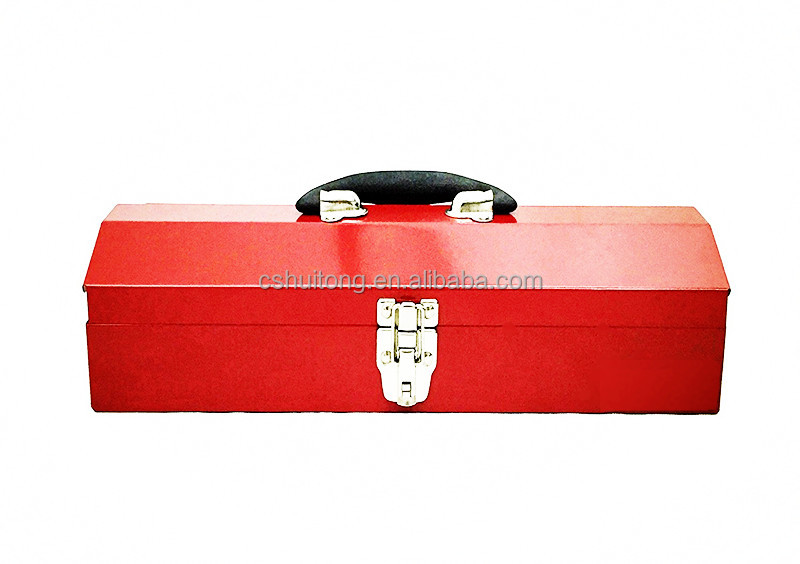 TBH102-Red 16-Inch Portable Steel Tool Box, Red