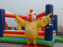 Adorable Advertising inflatable Chicken, Custom Inflatable Yellow Chicken Macsot, Inflatable Cartoon Replica