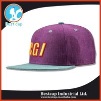Wide personalized decorative fitted cap