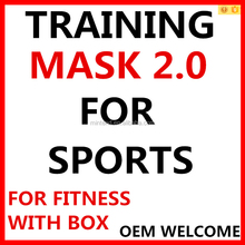 Hotsale Customed S/M/L high altitude training mask 2.0 elevation