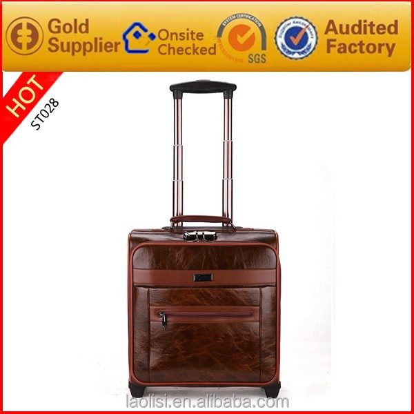 Brand Bags 16 inch size synthetic Laptop leather trolley bag