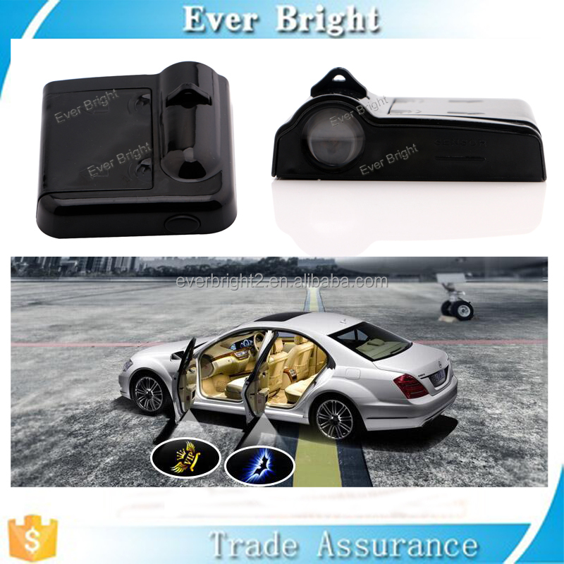 Hot new products for 2016 no wire easy installation led car door logo laser projector light