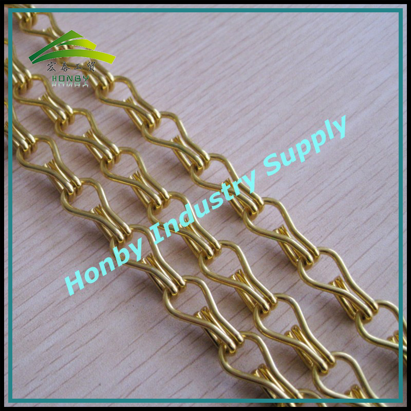 Factory Price 12mm Aluminum Decorative Gold Chains For Hanging Lamp