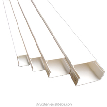 PVC Slotted Electrical Trunking Wiring Cable Duct With Cover