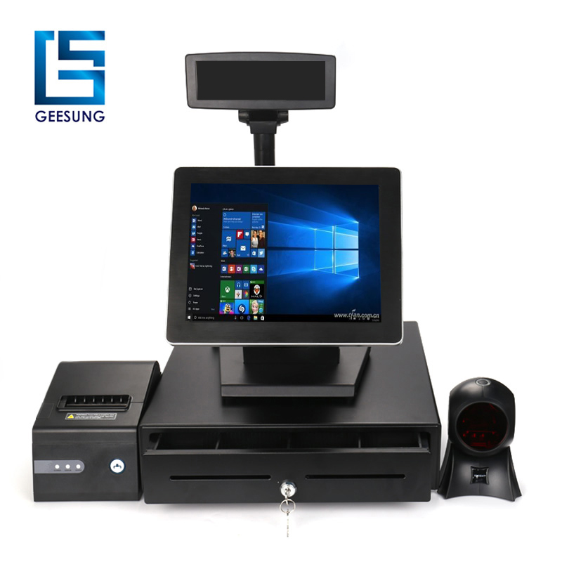 Touch screen pos system 12 inch cashier equipment