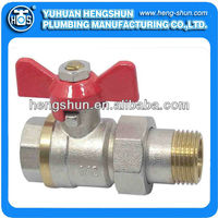 brass raw surface thread pipe union ball valve