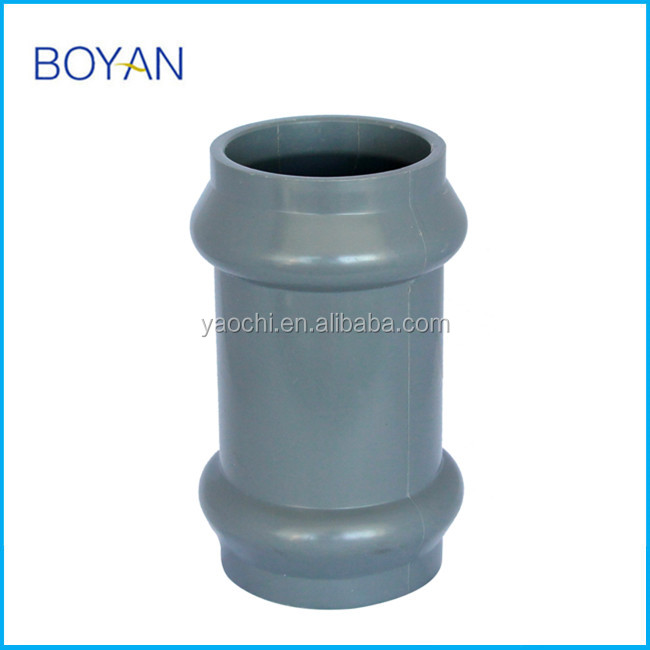 BOYAN taizhou plastic pipe fitting for irrigation pvc two faucet coupling with rubber ring
