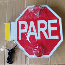 Electronic stop sign with led for school bus