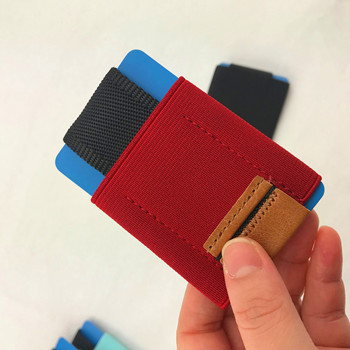 (Td-Ec1)Minimalist Slim Elastic Wallet With Front Pocket Card Holders And Cash