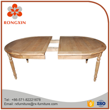 Hot sale outdoor furniture solid wood oval ext table
