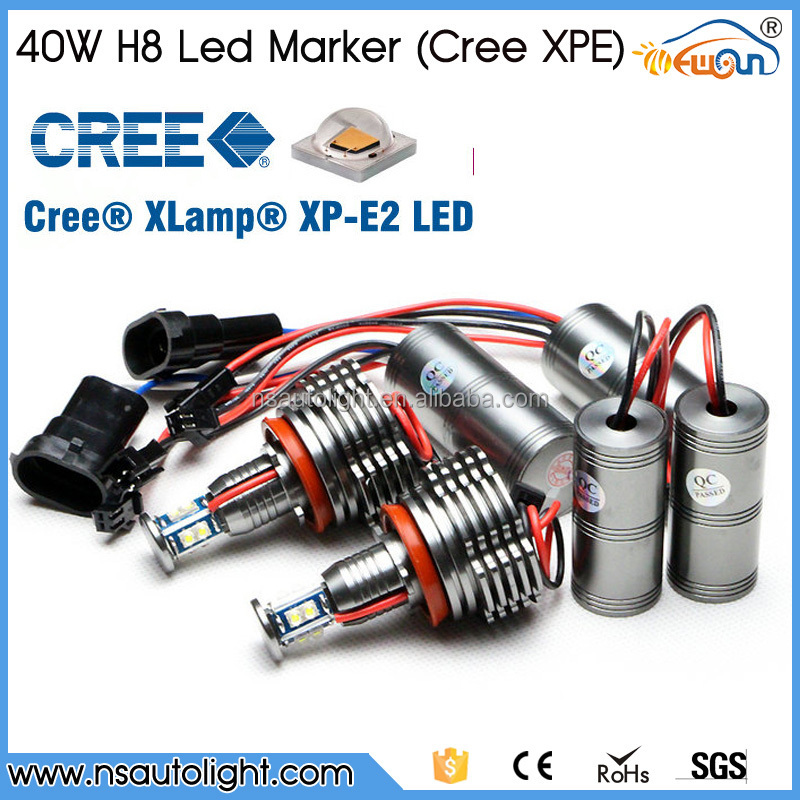 2015 Newest 1400lm H8 40w Led Angel Eyes For BMW E70 X5 E90