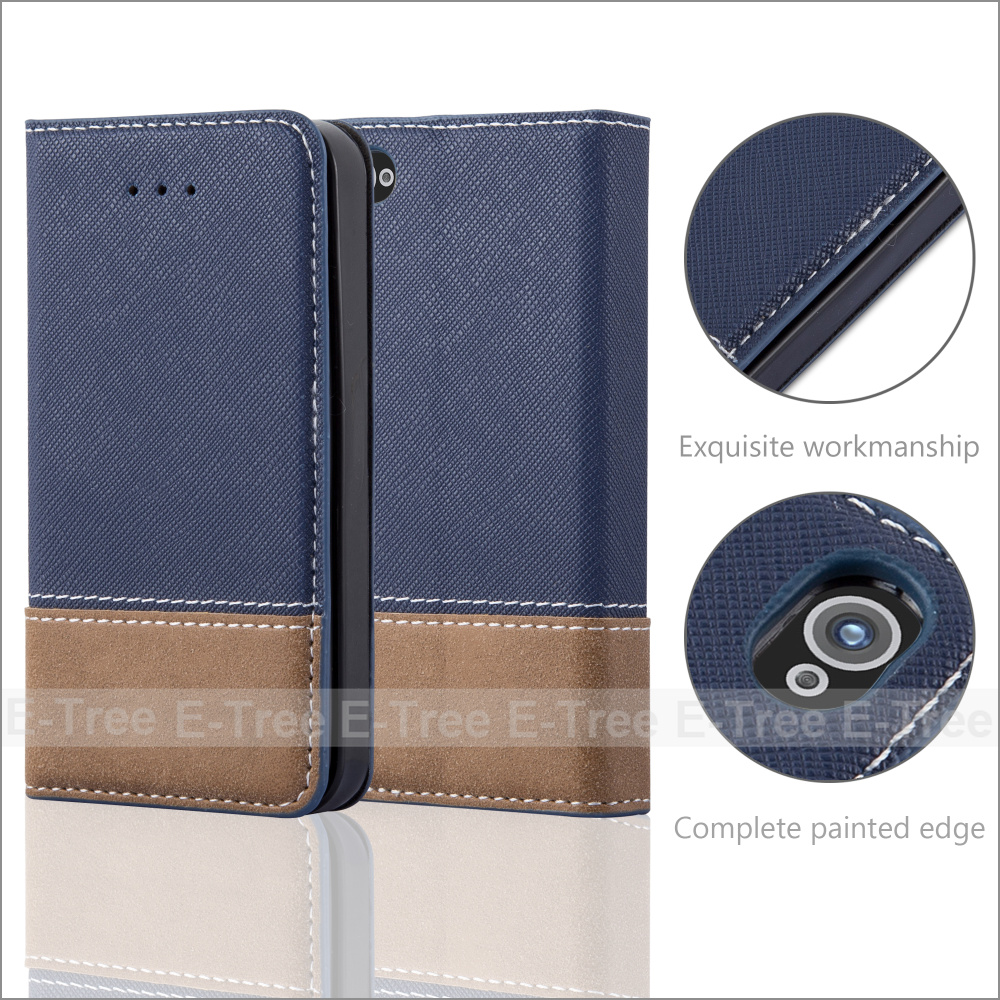 Fresh Jean Series PU Leather Buckle Case Soft Tpu Case Inside Cover For Apple iPhone 4