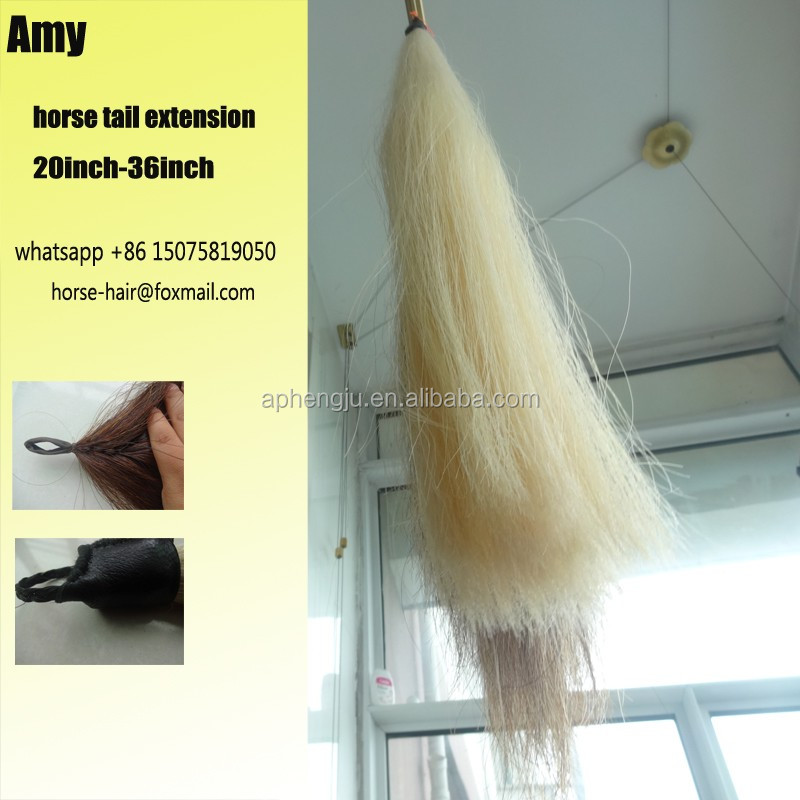 100 Real No Hurt Horse Tail Hair Horse Tail Extensions For Sell