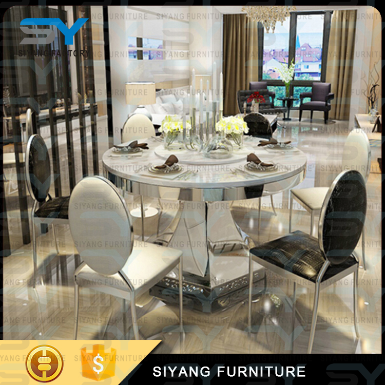 Korean Style Furniture Modern Marble Dining Table Set Round Rotating Dining  Table With 6 Seater Ct030   Buy Round Rotating Dining Table,Korean Style ...