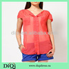2014 chiffon tops and transparency blouses for women in fashion