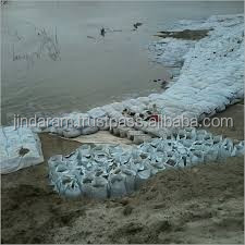 geotextile fabric bags used in river bank protection project