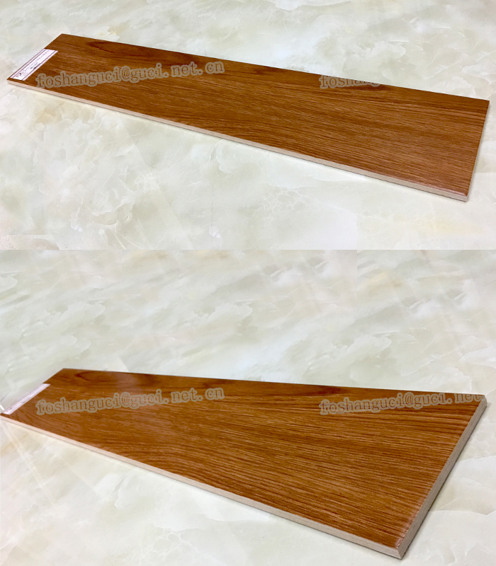 Indoor glazed ceramic parquet wood floor tiles