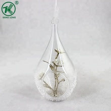 Clear hanging Christmas Ball glass inside flower decorations