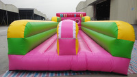 10.5m Inflatable Double Lane Bungee Run for Competitive Games