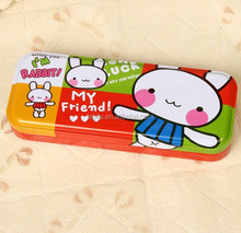 metal colorful cute pencil case for teenagers