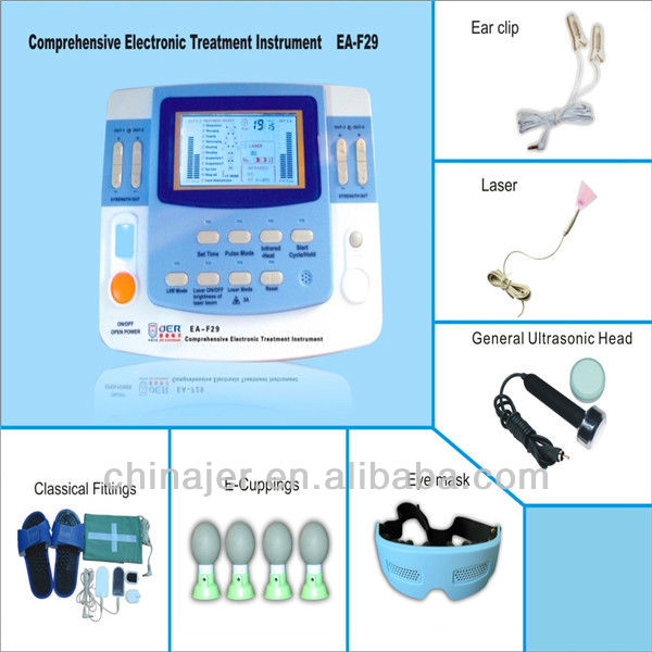 EA-F29 newly researched strong digital stimulator muscle with heating, laser therapy(CE approval)