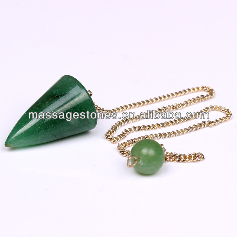 Green Aventurine Pendulum Gift for Unique Couple / Promotional Energy pendulum Point in Bulk Wholesale