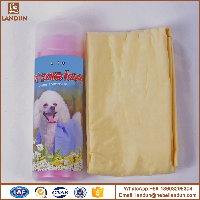 Water absorbent PVA Chamois Pet cleaning towel